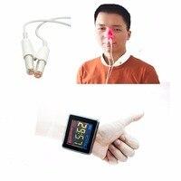 Лазерный медицинский часы Красный Лазерная Высокая измерять кровяное давление диабета терапевтический физическая лазерная терапия здрав