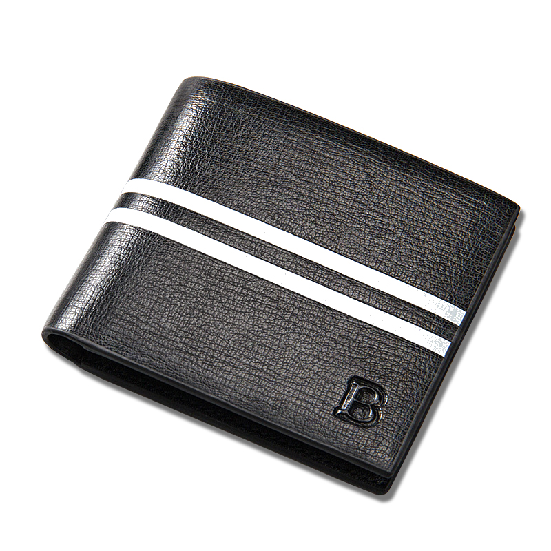где купить Famous baellerry brand short Men's leather wallet male credit card holder horizontal vertical purse for man дешево