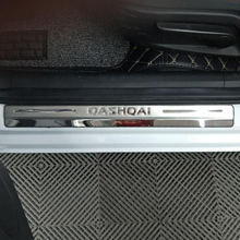 Car Door Sill Scuff Plate Welcome Pedal Stainless Steel Car Styling For Nissan qashqai J10 2010 2014 Accessories 4pcs