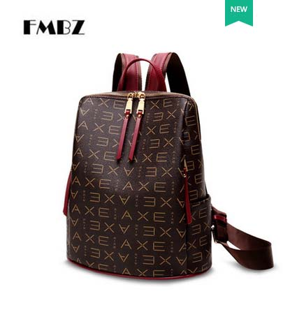 2018 new woman backpack GKE-5902 female shoulder bag fashion trend of wild bag printing retro ladies backpack free shipping aliwilliam 2017 new backpack female wild retro embroidery tide ladies backpack multi functional package college style female bag