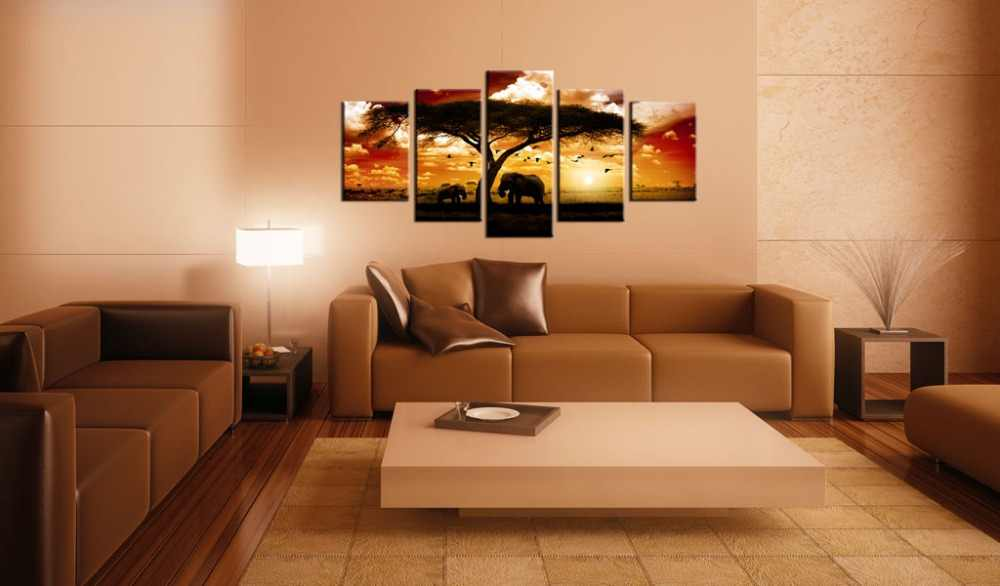 5 pieces/set Animal elephant poster Picture Print Painting On Canvas Wall Art Home Decor Living Room Canvas Art