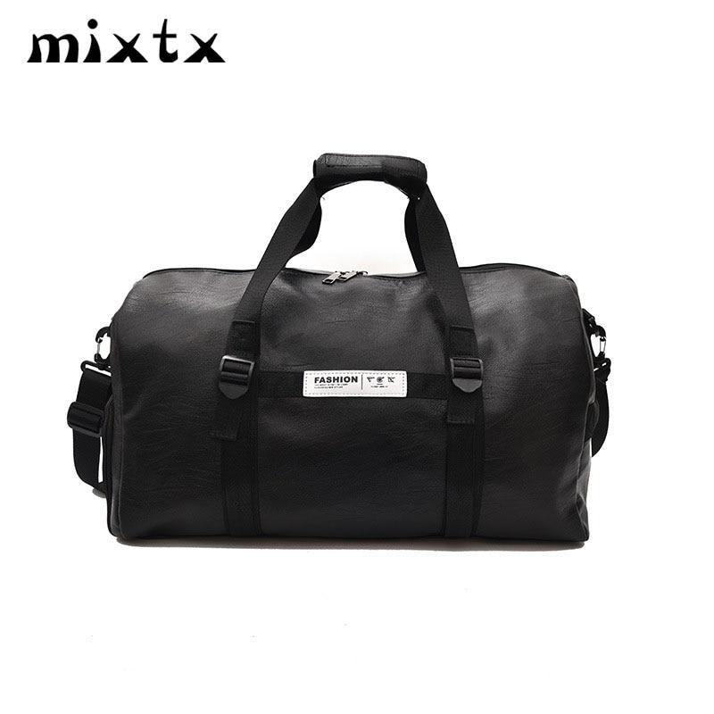 HOT SALE Women Men Unisex Travel Bag 2019 Fashion Handbag PU Shoulder Bag Crossbody Tote Large Capacity Couples Duffel Package