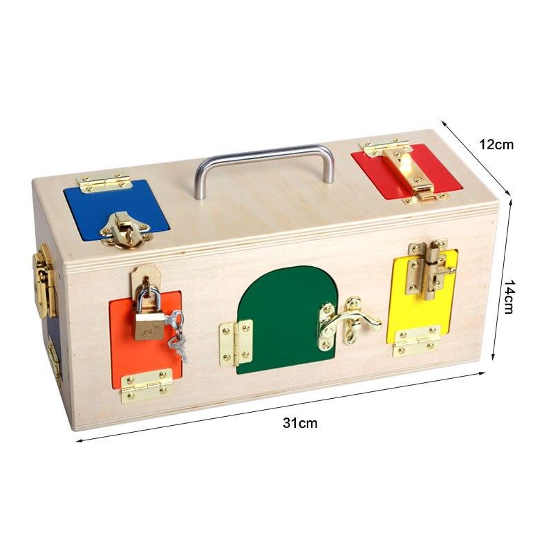 Jouets Montessori 3 Ans boîte de verrouillage Matériel Montessori Sensorielle jouets en bois éducatifs Pour Enfants Montessori jouets pour bébés UE1066 - 5