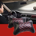 RUNDONG TP-0107 Car-Styling Car Cotton Pillows Universal Bone Style Car Auto Vehicle Micro Fiber PU Soft Headrest Pillow