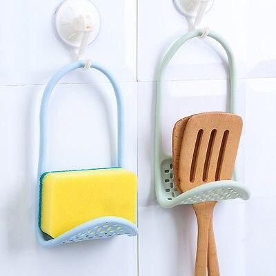 1 X Storage Rack Kitchen Sink Rack Holder Drainer Suction Bathroom Shelf  Soap Storage Tool Sponge