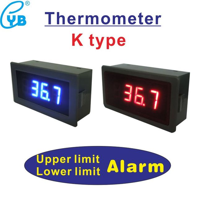 Type K Temperature Monitor Controller Humidity Car Thermometer DC12V