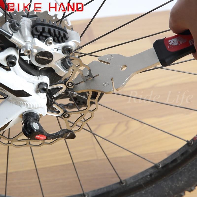 Bikehand YC-165 MTB bike bicycle Rotor Flattening Tool To adjust bent or damaged <font><b>brake</b></font> rotors with comfortable handle/repair