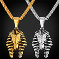 Egypt Jewelry Pharaoh Pendant Necklace For Men/Women Vintage Jewelry Stainless Steel/Gold Plated Chain Necklace GP1898