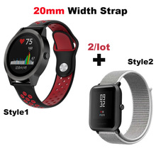 Купить с кэшбэком Smart Watch Bracelet Band 20mm Nylon Pulsera Correa Strap for Huami Amazfit Bip Lite for Huawei Watch 2 for Samsung Gear S2 S4