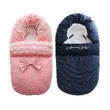 Baby Sleeping Bag Winter Newborn Thicken Warm Sleep Sack Cotton Kids Sleepsack For Baby Carriage Infantil Footmuff Stroller Boy