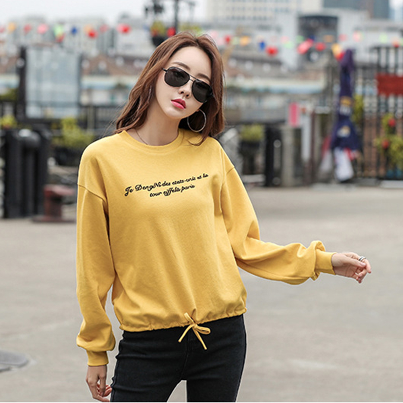 GGRIGHT 2019 Spring New Letter T Shirt Women loose harajuku Tops Long Sleeve Cotton Women Casual T shirt Bow korean clothes