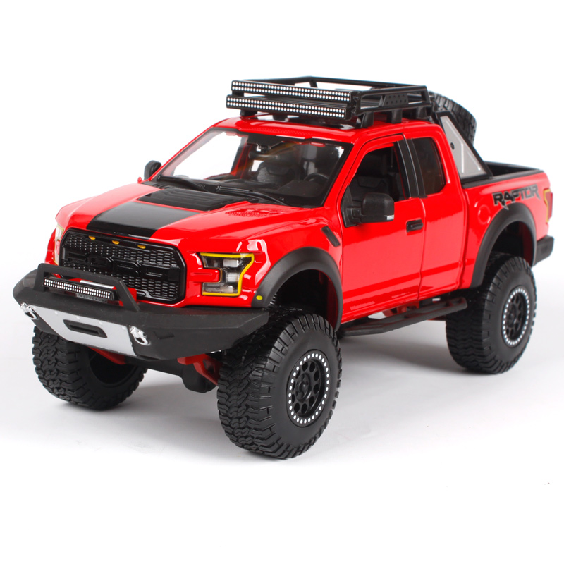 Maisto 1:24 2017 red blue black F-150 partor pick-up big truck model for ford American truck pick up car diecast for ford 32521 maisto 1 24 2017 white blue silver f 150 partor pick up truck model for ford big emulation pick up car diecast for ford 31266