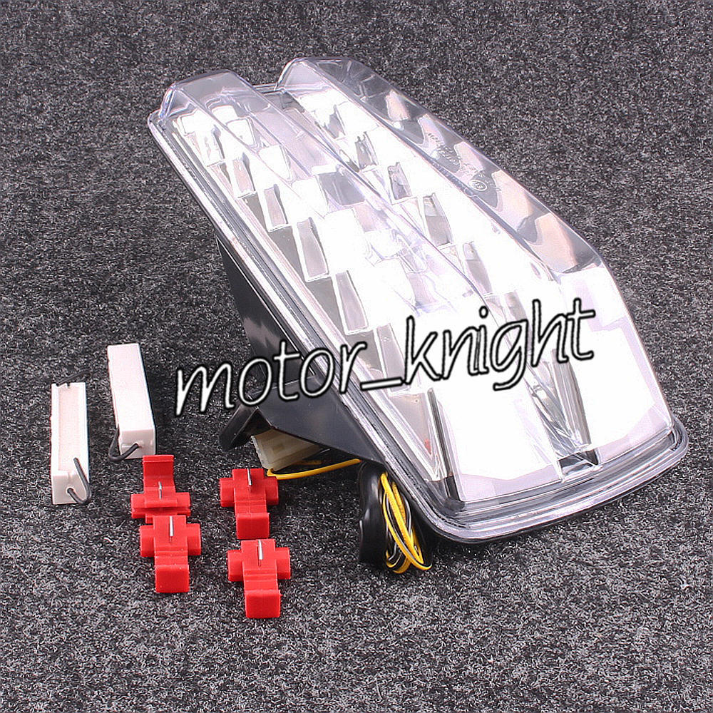 LED Tail Light Taillight Turn Signals For SUZUKI SV650 SV1000 2003-2008 Clear