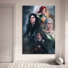 The Witcher 3 Wild Hunt Geralt Ciri Yennefer Triss Art Canvas Poster Painting Wall Picture Print Home Bedroom Decoration Artwork все цены