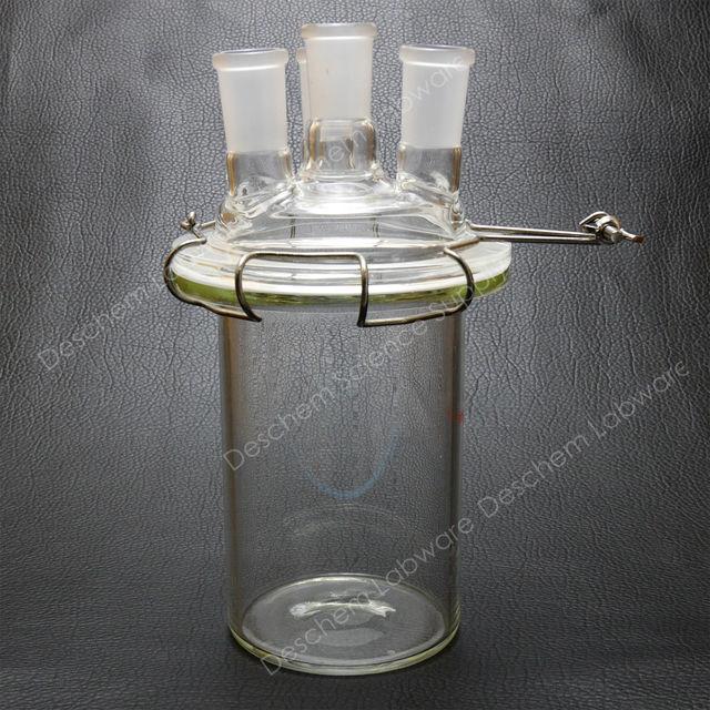 3000 ml 24 40 4 hals glas zylinder reaktor 3 l flachen boden reaktionsgef in 3000 ml 24. Black Bedroom Furniture Sets. Home Design Ideas