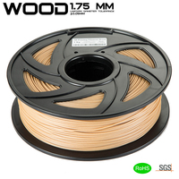 Free Shipping Wood PLA 3D Printer Filament 1.75mm 1KG Good Wooden Effect 3D Printing Material for MakerBot