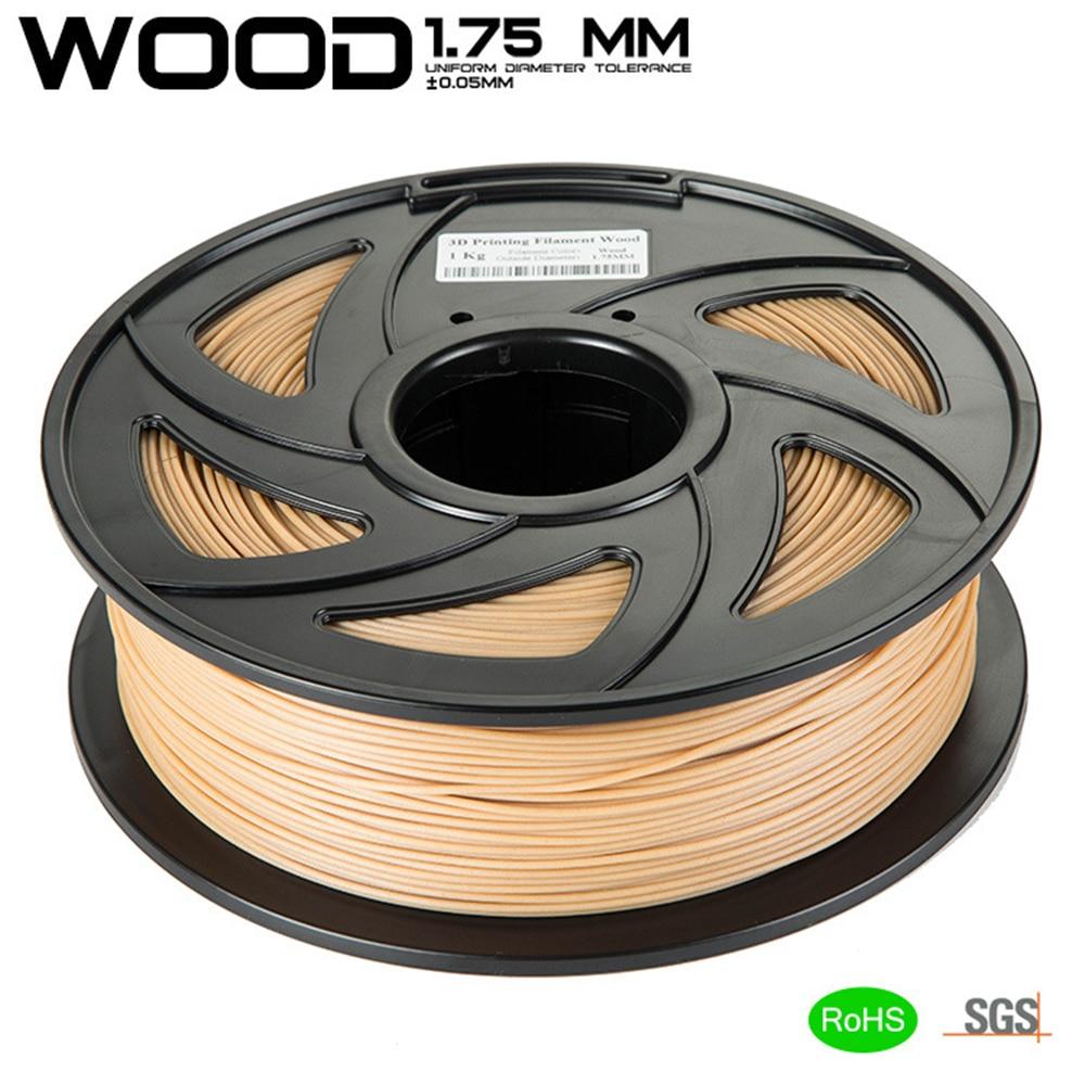 Büroelektronik Ausdrucksvoll Kostenloser Versand Holz Pla 3d Drucker Filament 1,75mm 1 Kg Gute Holz Wirkung 3d Druck Material Für Makerbot Modernes Design 3d Druck-materialien
