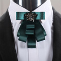 Mantieqingway Business Bow Tie Tuxedo Bowtie Cravat for Groom Wedding Bouquet Fashion Polyester Bow Ties for Men Blue Gravata