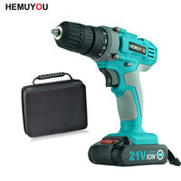 21V Multifunction Rechargeable Electric Screwdriver Lithium Battery Electric Drill Bit Power Tools 22pcs Drill Bits Accessories