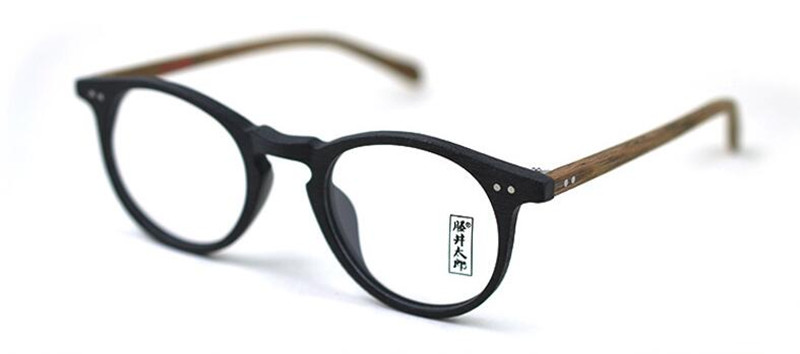 Image 4 - 60's Vintage Wood Brown Oval Eyeglass Frames Full Rim Hand Made Glasses Spectacles Men Women Myopia Rx able Brand New-in Men's Eyewear Frames from Apparel Accessories