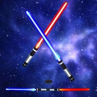 2 Pcs Lot Star Wars Lightsaber 133CM Cosplay Props Kids Double Light Saber Toy Sword For