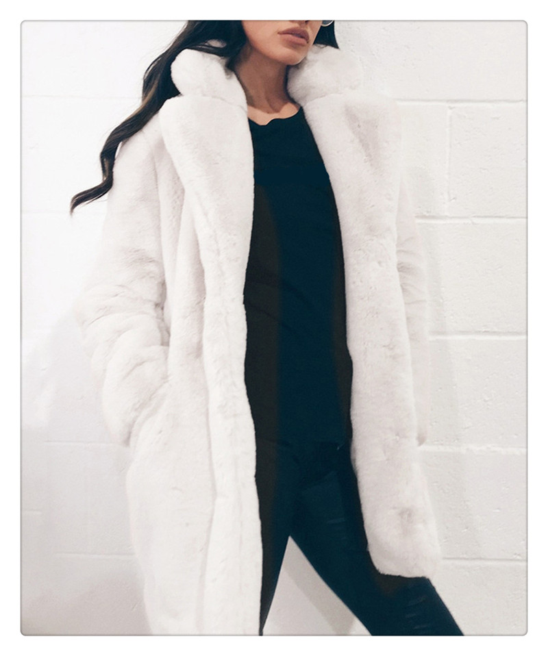 Imitation fur coat 2018 European and American women's wear long and loose plush soft rabbit hair (12)