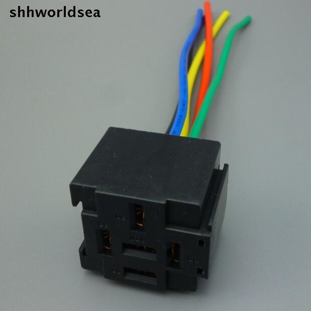 Shhworldsea 100pcs Auto Car 12v 40a 5pin Control Device 5p