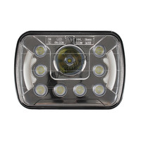1pcs For Jeep Wrangler YJ 4X4 Offroad With Angel Eyes DRL 6 X7 5x7 Inch 55w