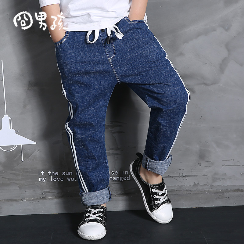 All-match 2-7Yrs Kids Boys Striped Jeans 2017 Spring Autumn New Arrival Children's Spring Jeans Trousers Brand Denim Boy Jeans 2018 brand new spring