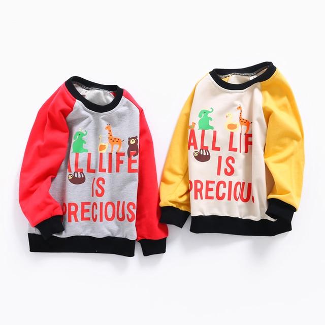 Spring boy Raglan sweater 2017 new small kids children baby jumper sleeves.