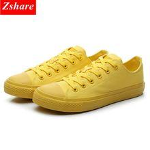 Baskets classiques en toile pour hommes, chaussures de marque, vulcanisées noires, blanches et jaunes, chaussures plates grande taille 35 à 44, décontracté
