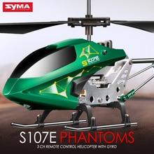Syma 3ch 2.4 ГГц s107e крытый вертолет сплав сильная анти-шок дистанционного управления vertiplane подарок для ребенка сразу производитель
