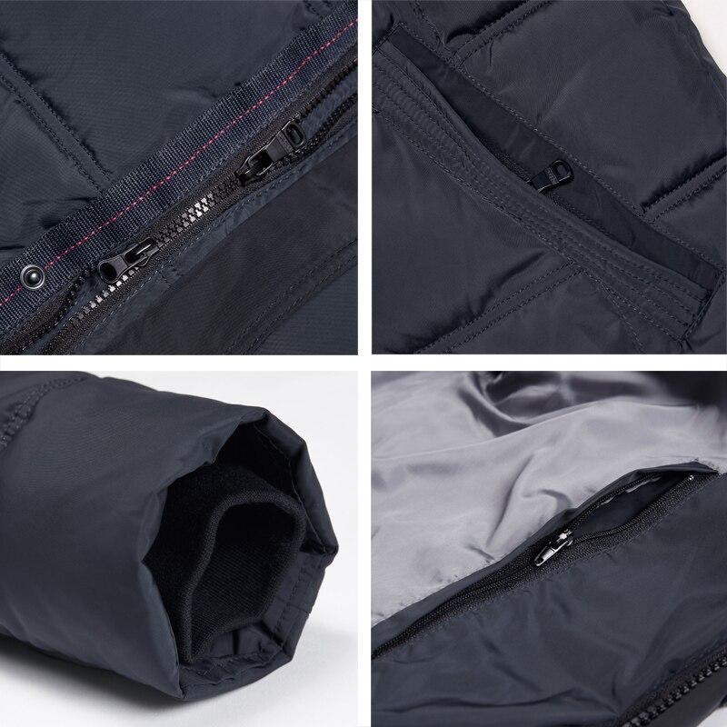 ICEbear 2018 Top Quality Warm Men's Warm Winter Jacket  Windproof  Casual Outerwear Thick Medium Long Coat Men Parka 16M899D 5