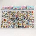 9 Листов/комплект Пены мультфильм аниме Pokemon 3D наклейки Игрушки Пикачу Мода Подарок Для Детей Детские Игрушки