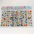 9 Sheets/set Foam cartoon anime Pokemon 3D stickers Toy Pikachu Fashion Gift For Children Baby Kids Toy
