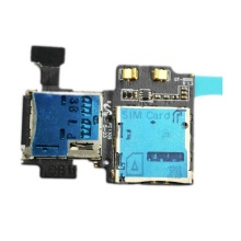 Connector Microsd Sim-Card Samsung Galaxy S4 Flex-Cable for Gt-i9500/I9505/I337/..