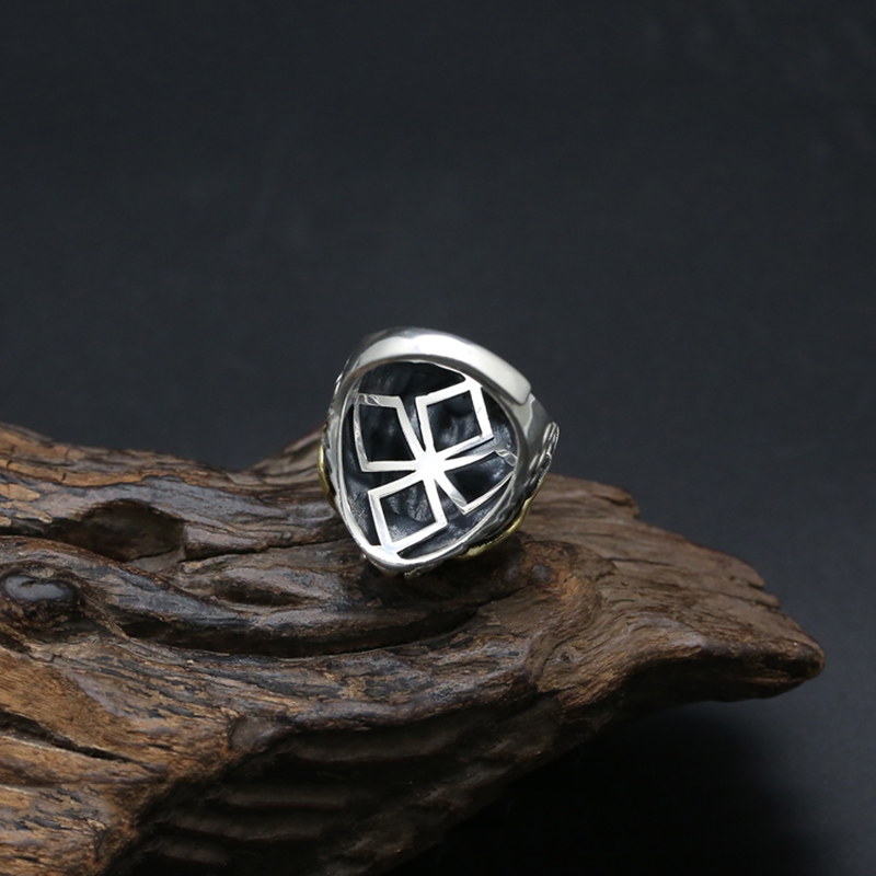 2017 925 Sterling Silver Ring Men Jewelry Dragon Lucky Natural stone engagement Ring Adjustable Gift Fine Jewelry R12