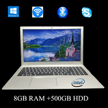 1920*1080 Full-HD Screen,15.6 inch All-mental Notebook with backlit keyboard,Win10 system,Intel-i5,8GB RAM 500GB HDD laptop(China (Mainland))