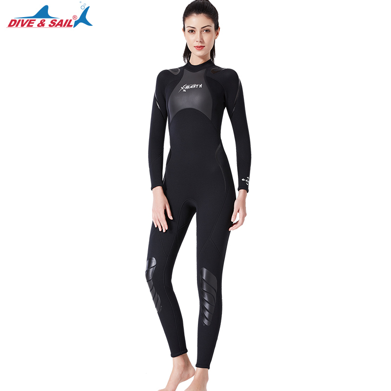 Women's Wetsuit Fullsuit 3mm Neoprene Back Zip Long Sleeve 4 Way Stretch Surfing Diving Swimming Scuba Snorkeling Kayaking Suits