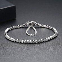 2.5Mm Steen 17Cm 19Cm Lengte 925 Sterling Zilveren Armband & Bangles Mannen Voor Mannen En Vrouwen Sieraden nieuwe S4773