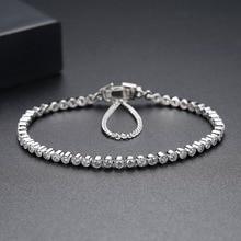 2.5mm pedra 17cm 19cm comprimento 925 prata esterlina pulseira & pulseiras masculino para homem e mulher jóias novo s4773