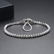 2.5mm stone 17cm 19cm Length 925 sterling silver Bracelet & bangles Men for Men and Women Jewelry new S4773