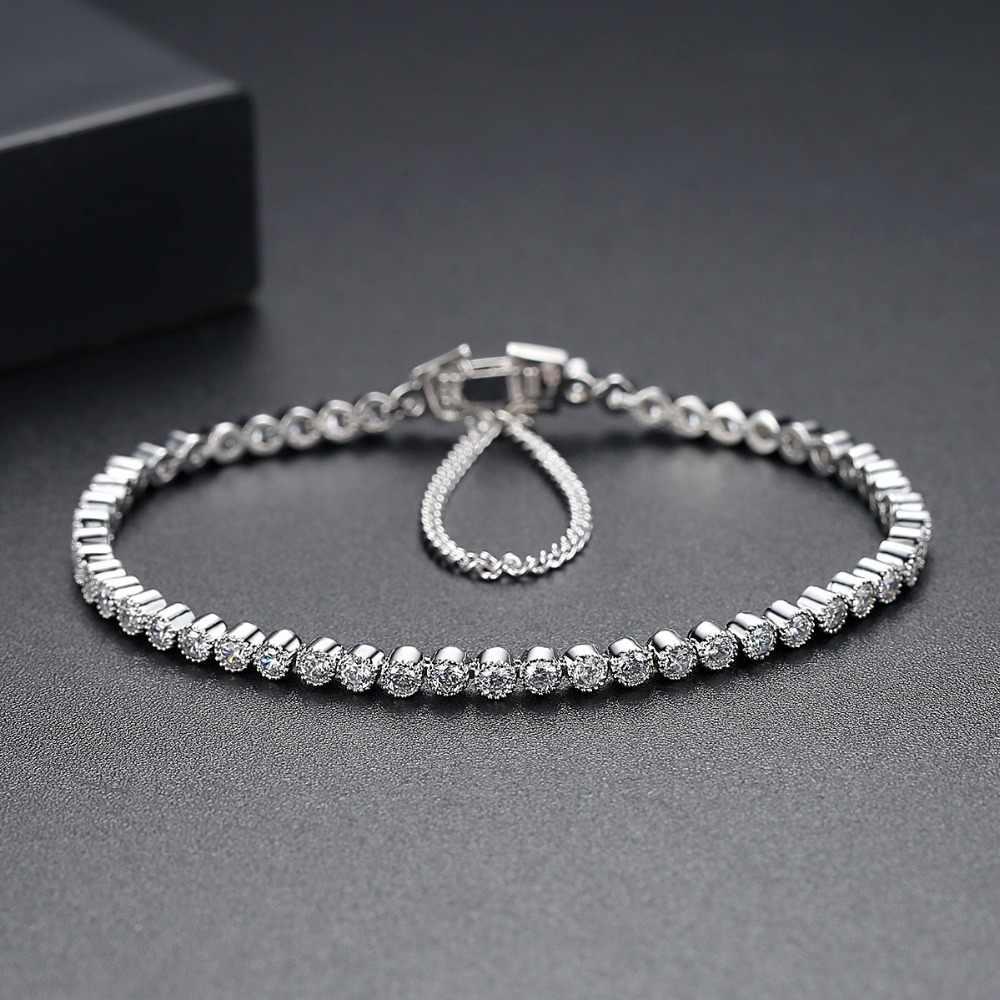 Moonso 2.5mm kamień 17cm 19cm długość bransoletki i bangles mężczyzn dla mężczyzn i kobiet biżuteria nowy S4773