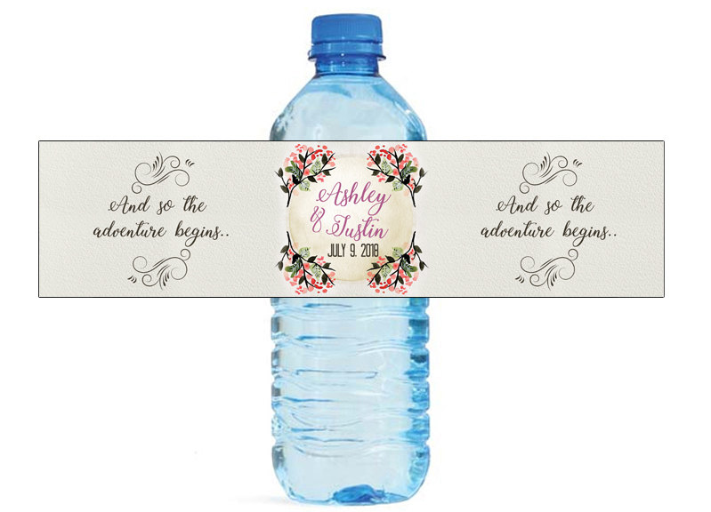 Customized Lily Personalized Water Bottle Labels Wedding Party ...