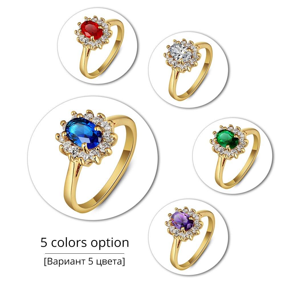 пять вариантов цвета классическое кольцо для
