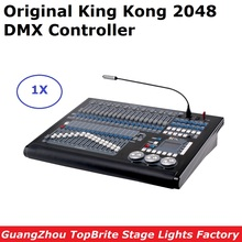 New Stage Lighting Equipments King Kong 2048 DMX Controller LED Par Moving Head Lights Console Support Up To 200Pcs Fixtures ma lighting command wing dmx console onpc console wing ma real time control 2048 parameters 6 pages buttons ma command wing