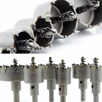 6Pcs Carbide Tip TCT Drill Bit Set Stainless Steel Hole Saw Cutter For Metal Alloy Drilling
