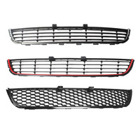 Chrome Black Red Decorative Strip Honeycomb Mesh Style Front Bumper Lower Grille Cover For VW Golf MK6 Not Fit GTI 5K0853677A