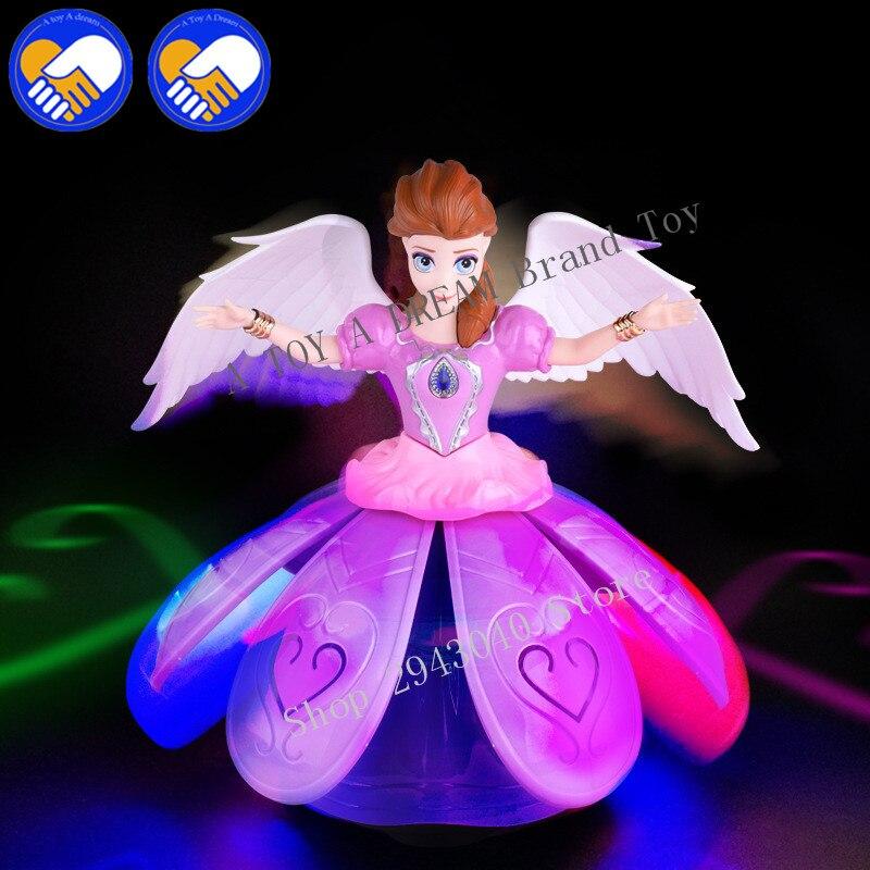 New Hot Angel Girl Rotating Dancing Elsa Princess With -8568