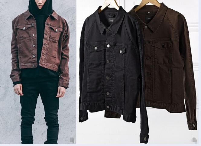 Popular Brown Denim Jacket Men-Buy Cheap Brown Denim Jacket Men